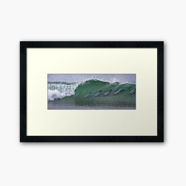 Surfing in Heaven Framed Art Print