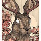 Forest friends - jackalope, art nouveau color style by martasketches