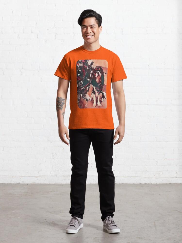 Alternate view of Cavalier King Charles Spaniel Christmas Tree Classic T-Shirt