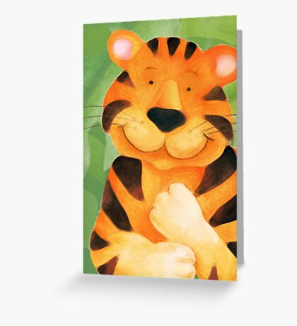 Whimsical tiger painting Greeting Card