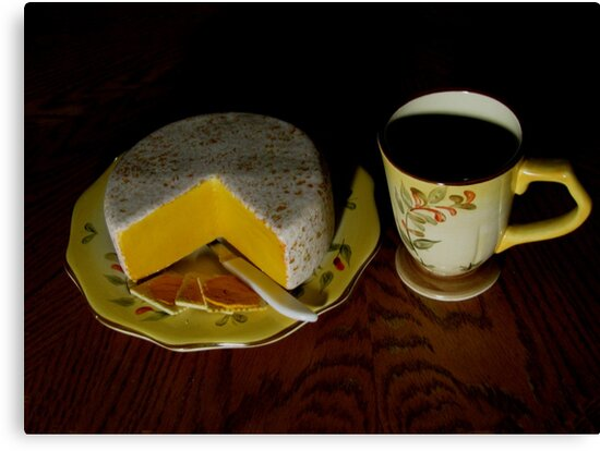 Having Coffee With Cheese And Crackers by Linda Miller Gesualdo