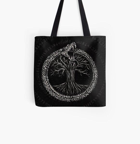 Celtic Spiral Tree of Life Large Print Tote Shoulder Shopping Bag