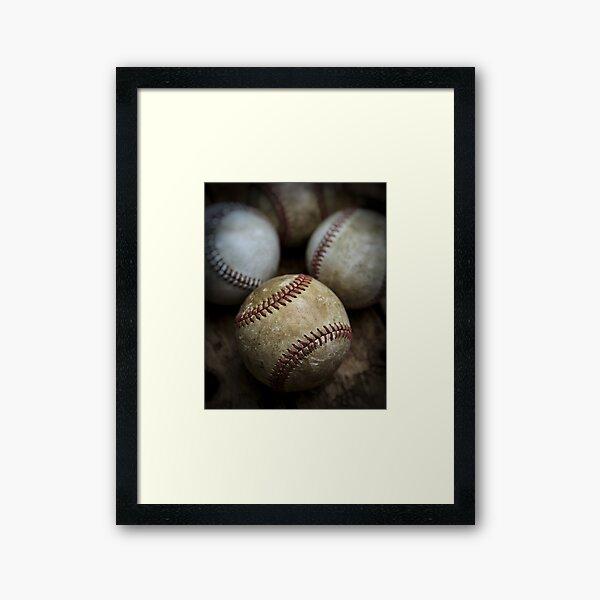 Old Baseball Framed Art Print