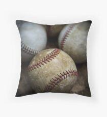 Old Baseball Throw Pillow