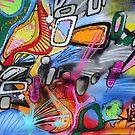 Abstract street art 2 by Carol Dumousseau