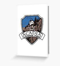 Acadia National Park artistic shield Greeting Card