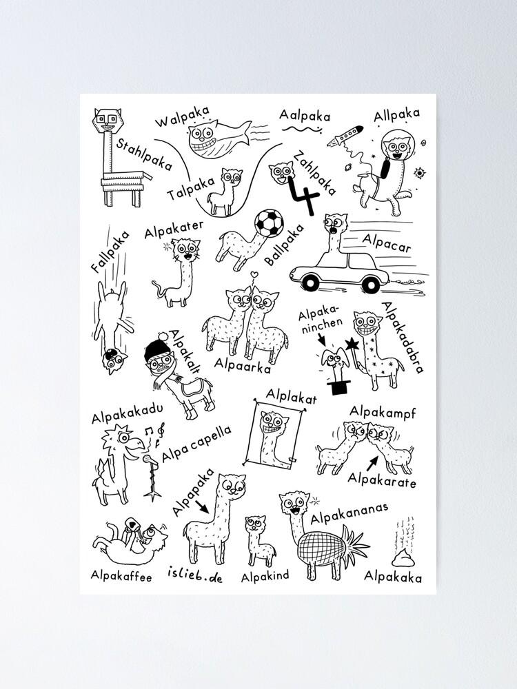 Alternative Ansicht von Alpakas Poster