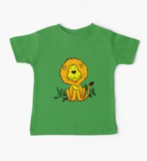 Cute Little Lion graphic drawing Baby Tee