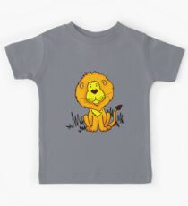 Cute Little Lion graphic drawing Kids Tee