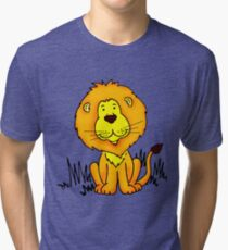 Cute Little Lion graphic drawing Tri-blend T-Shirt