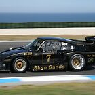 PORSCHE 935  IN FULL FLIGHT.   PHILLIP ISLAND by Ian Nichols