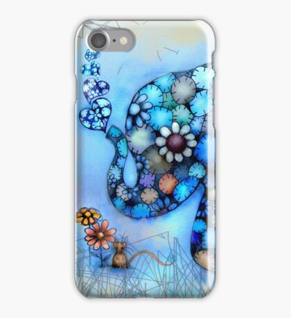 Little Blue the Patchwork Elephant iPhone Case/Skin