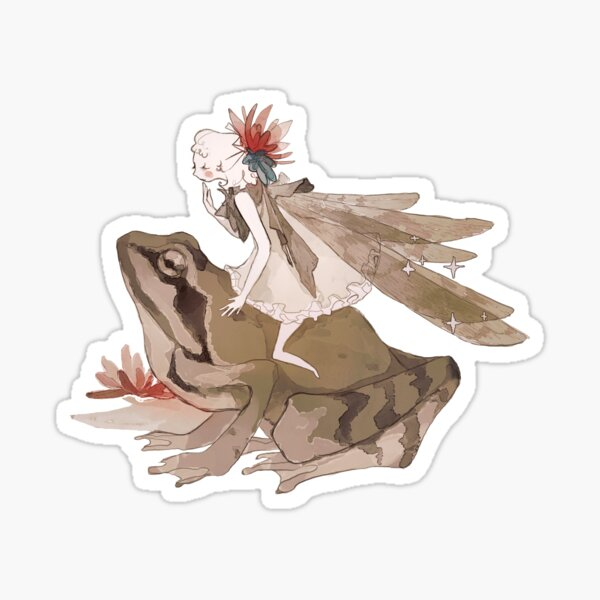 fairy&frog (sticker) Sticker