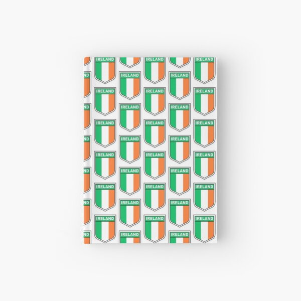 Flag of Ireland in a shield  Hardcover Journal