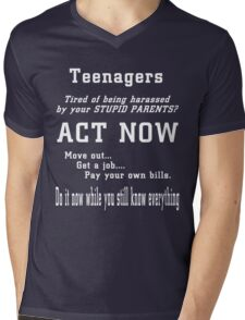 Teenagers Mens V-Neck T-Shirt