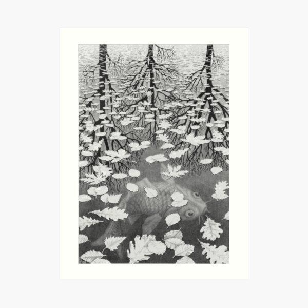 Tres Mundos - Escher Lámina artística