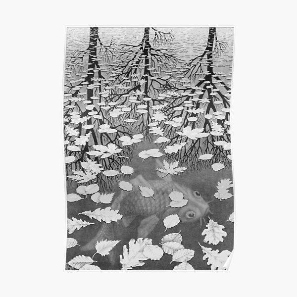 Trois mondes - Escher Poster