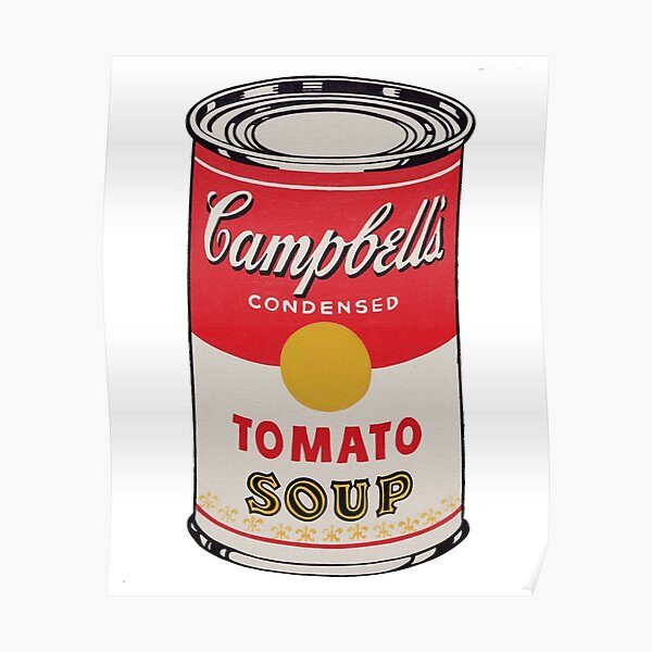 Sopa Campbell - Andy Warhol Póster