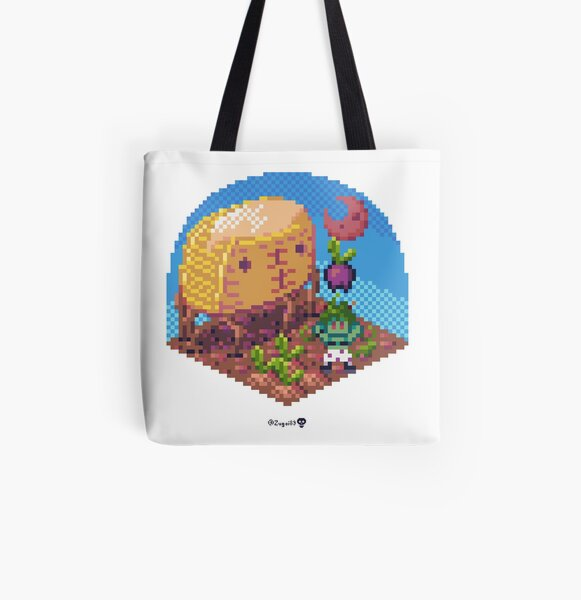 Phylla Harvest Moon Cube All Over Print Tote Bag
