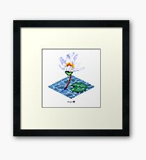 Water Lily Cube Framed Print