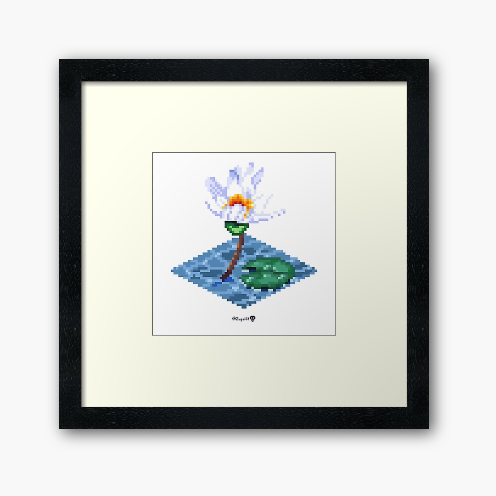 Water Lily Cube Framed Art Print
