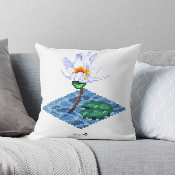 Water Lily Cube Throw Pillow