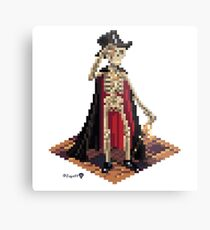Vincent, Prince of the Underdark - Skeleton Cube Metal Print