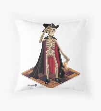 Vincent, Prince of the Underdark - Skeleton Cube Throw Pillow