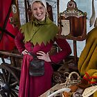 Estonia. Tallinn. Portrait of a Young Woman in a Medieval Costume. by vadim19