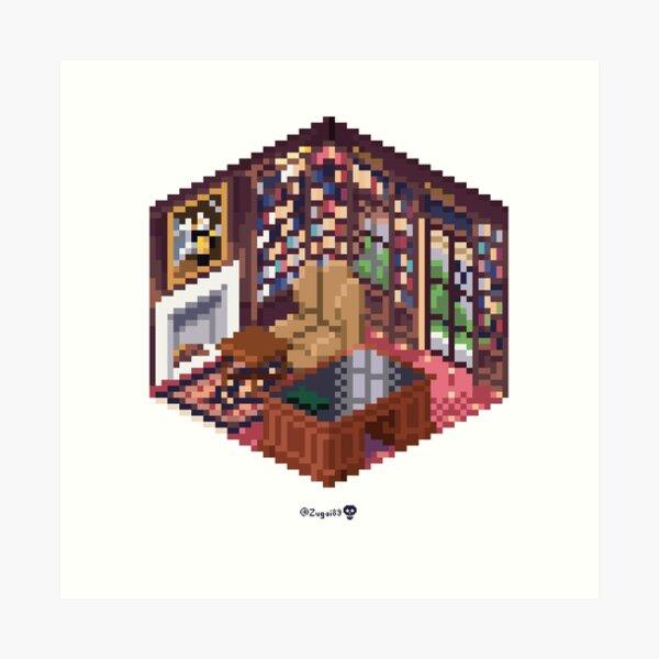 Office Cube Art Print