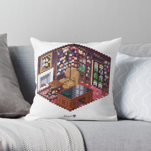 Office Cube Throw Pillow