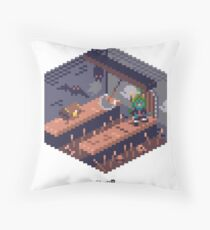 Phylla Dungeon Cube Throw Pillow