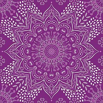 Purple mandala by Eng-Sun