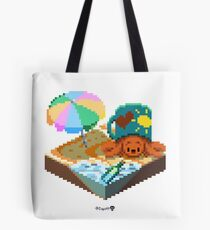 Crabby on the Beach Cube Tote Bag