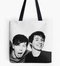 Black and White// Dan And Phil!!! Tote Bag