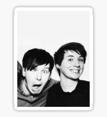 Black and White// Dan And Phil!!! Sticker