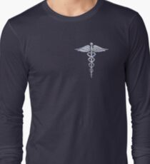 Chrome like Medical Caduceus Snakes T-Shirt