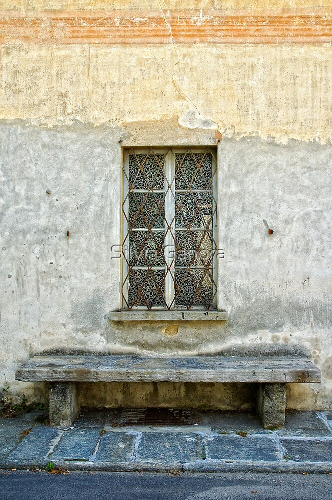Window and bench by Silvia Ganora
