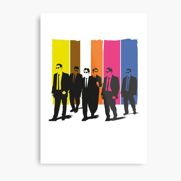 Reservoir Dogs, mr pink, mr blonde, mr orange, mr white Metal Print