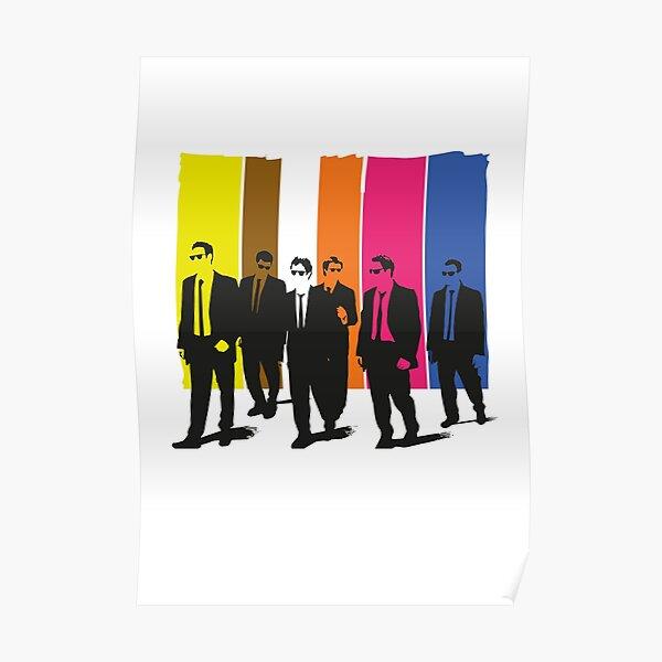 Reservoir Dogs, mr rose, mr blonde, mr orange, mr blanc Poster