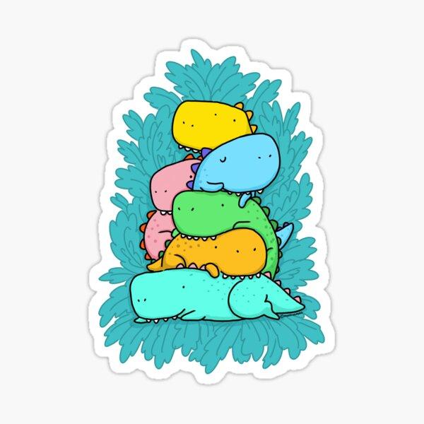 Pile Of Dinosaurs  Sticker