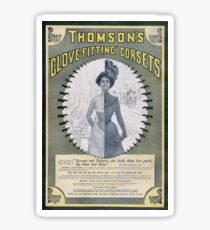 Victorian Corset Ad from 1900 Sticker