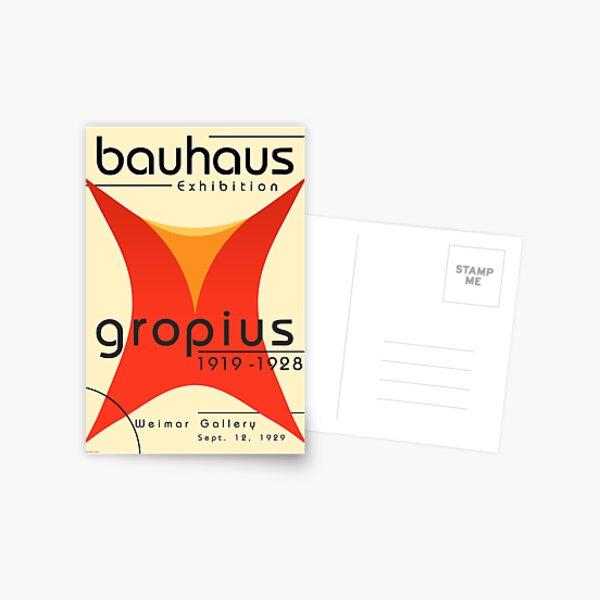 Bauhaus Poster of Walter Gropius Exhibition  Postcard