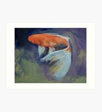 Koi Fish Painting Art Print