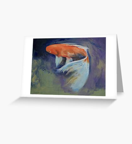 Koi Fish Painting Greeting Card