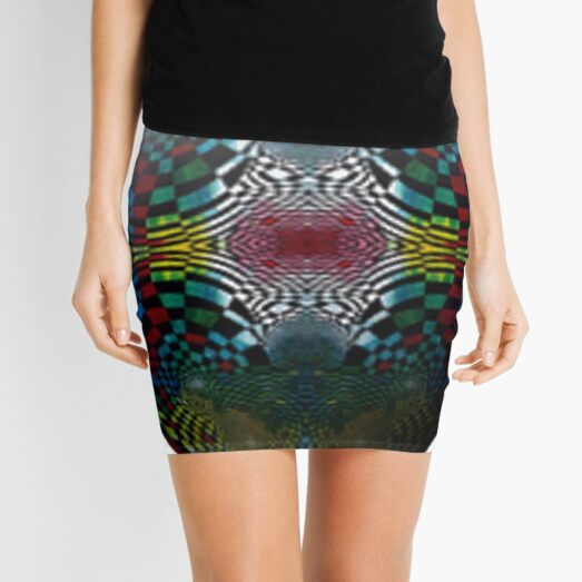 #Pattern #FractalArt #Circle #Symmetry #Design Ornament decoration bright ornate shape art abstract separation circle colors square Mini Skirt