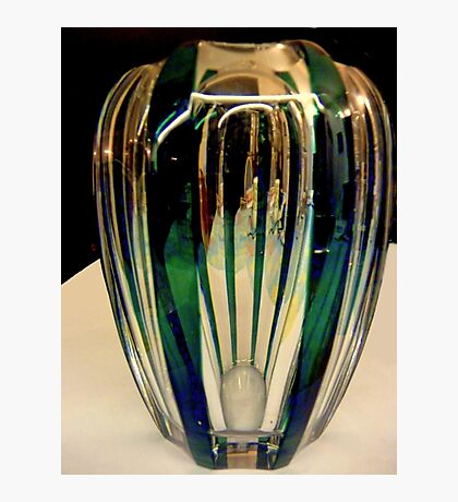 Reflections on a green vase Photographic Print
