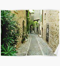 Deserted Street - Mougins, France Poster