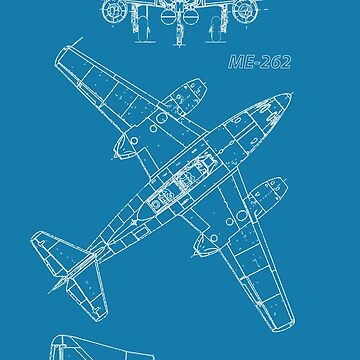 ME-262 Concept Blueprints by DarkHorseDesign
