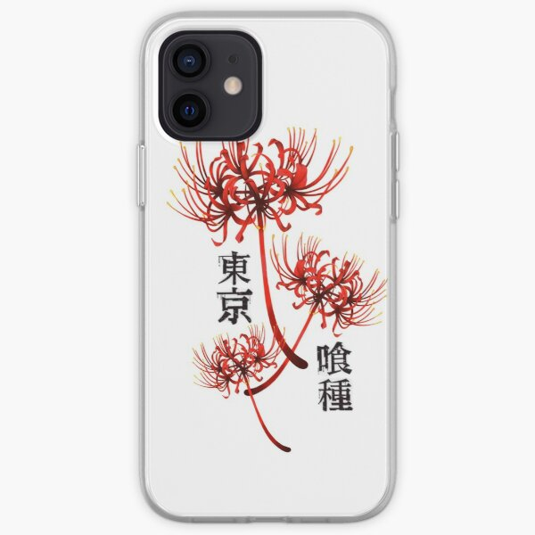 Araignée rouge lilly kanji 3 - tokyo ghoul Coque souple iPhone